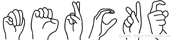 Merckx im Fingeralphabet der Deutschen Gebärdensprache