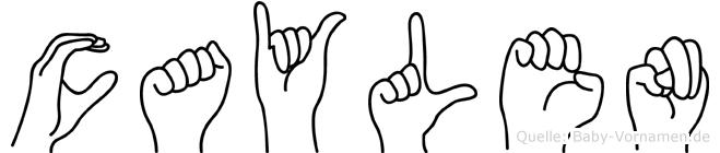 Caylen in Fingersprache für Gehörlose