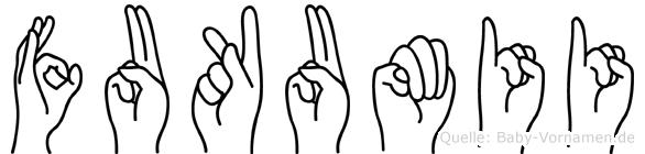 Fukumii in Fingersprache für Gehörlose