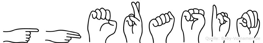 Gherasim im Fingeralphabet der Deutschen Gebärdensprache