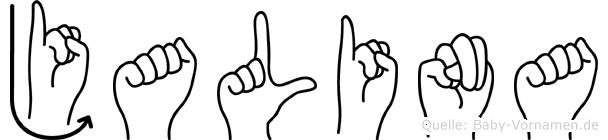 Jalina im Fingeralphabet der Deutschen Gebärdensprache