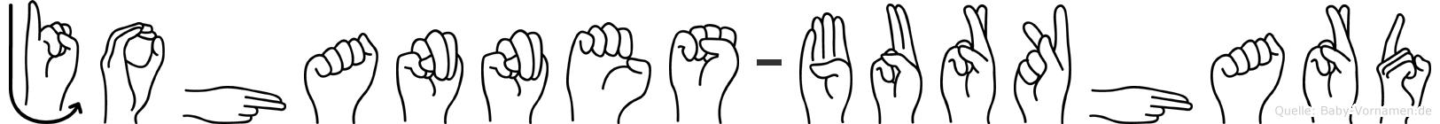Johannes-Burkhard im Fingeralphabet der Deutschen Gebärdensprache