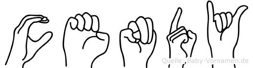Cendy in Fingersprache für Gehörlose