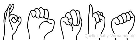 Fenia im Fingeralphabet der Deutschen Gebärdensprache
