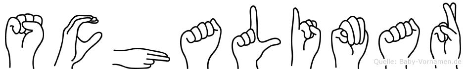 Schalimar im Fingeralphabet der Deutschen Gebärdensprache