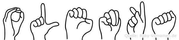 Olenka in Fingersprache für Gehörlose