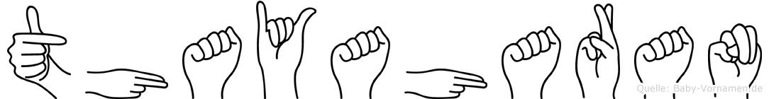 Thayaharan in Fingersprache für Gehörlose