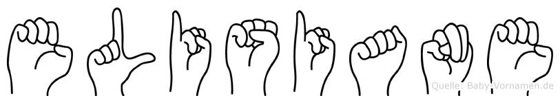 Elisiane im Fingeralphabet der Deutschen Gebärdensprache