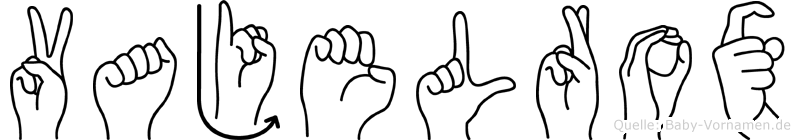 Vajelrox in Fingersprache für Gehörlose