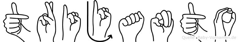 Trijanto in Fingersprache für Gehörlose