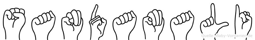 Sandamali in Fingersprache für Gehörlose
