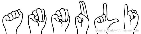 Annuli im Fingeralphabet der Deutschen Gebärdensprache