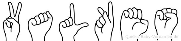 Valkes in Fingersprache für Gehörlose