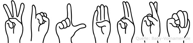 Wilburn im Fingeralphabet der Deutschen Gebärdensprache