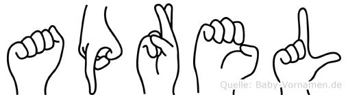 Aprel in Fingersprache für Gehörlose