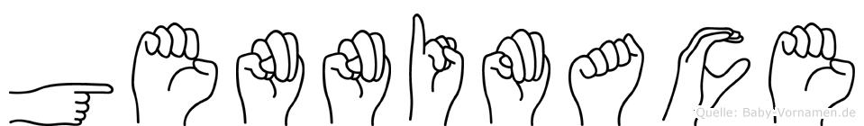 Gennimace im Fingeralphabet der Deutschen Gebärdensprache