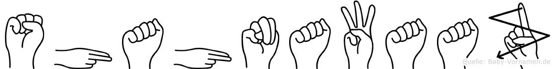 Shahnawaaz im Fingeralphabet der Deutschen Gebärdensprache
