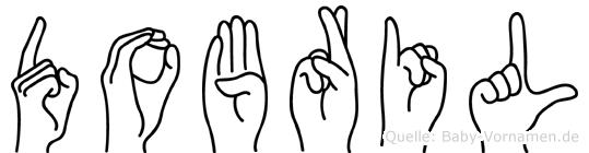 Dobril im Fingeralphabet der Deutschen Gebärdensprache
