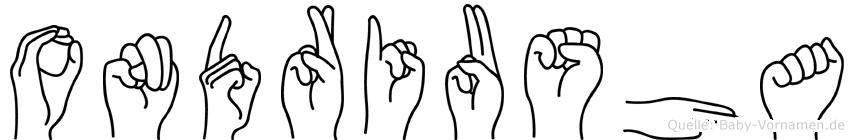 Ondriusha in Fingersprache für Gehörlose