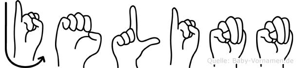 Jelinn im Fingeralphabet der Deutschen Gebärdensprache