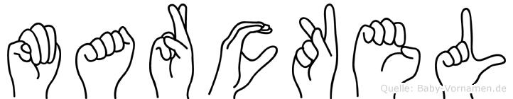 Marckel im Fingeralphabet der Deutschen Gebärdensprache