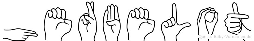 Herbelot im Fingeralphabet der Deutschen Gebärdensprache