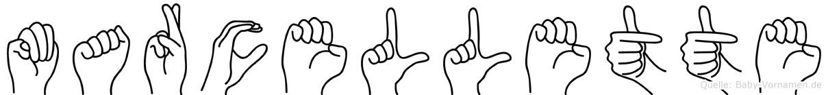 Marcellette in Fingersprache für Gehörlose