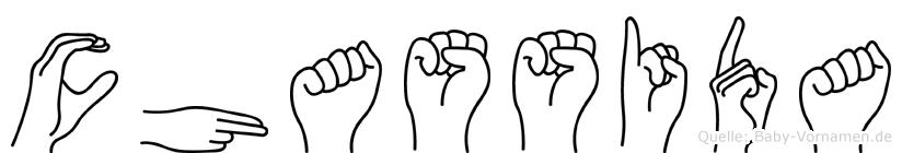 Chassida im Fingeralphabet der Deutschen Gebärdensprache