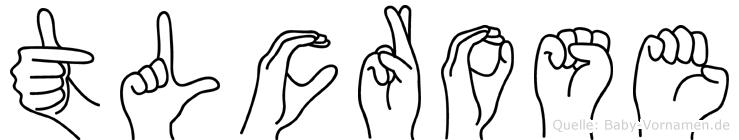 Tlcrose in Fingersprache für Gehörlose
