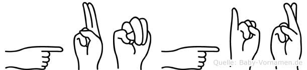 Gungir in Fingersprache für Gehörlose