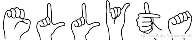 Ellyta im Fingeralphabet der Deutschen Gebärdensprache