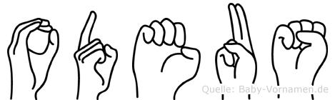 Odeus in Fingersprache für Gehörlose