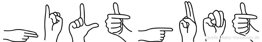 Hiltgunt im Fingeralphabet der Deutschen Gebärdensprache