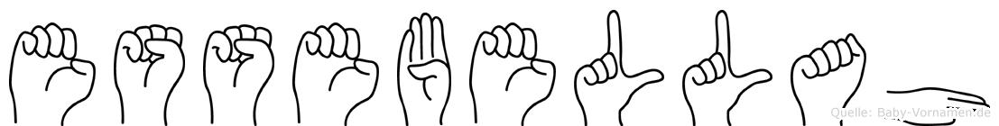 Essebellah im Fingeralphabet der Deutschen Gebärdensprache