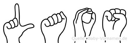 Laos in Fingersprache für Gehörlose