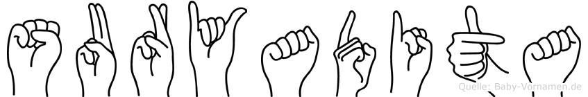 Suryadita in Fingersprache für Gehörlose