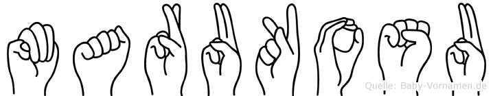 Marukosu in Fingersprache für Gehörlose