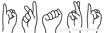 Ikari im Fingeralphabet der Deutschen Gebärdensprache