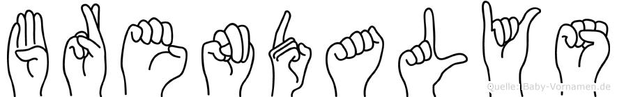 Brendalys im Fingeralphabet der Deutschen Gebärdensprache