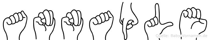 Annaple im Fingeralphabet der Deutschen Gebärdensprache