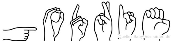 Godrie im Fingeralphabet der Deutschen Gebärdensprache