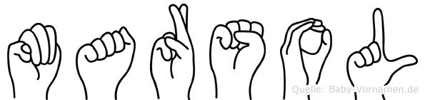 Marsol im Fingeralphabet der Deutschen Gebärdensprache