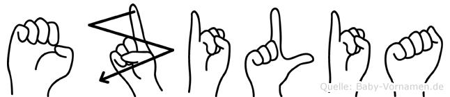 Ezilia in Fingersprache für Gehörlose