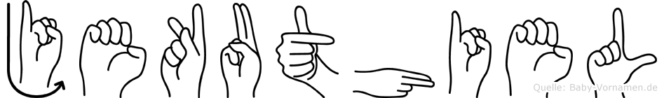 Jekuthiel in Fingersprache für Gehörlose