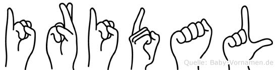 Iridal in Fingersprache für Gehörlose