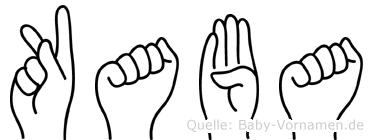 Kaba in Fingersprache für Gehörlose