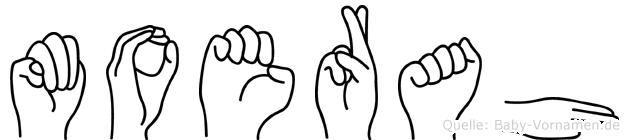 Moerah im Fingeralphabet der Deutschen Gebärdensprache