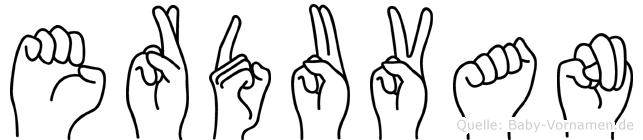 Erduvan im Fingeralphabet der Deutschen Gebärdensprache