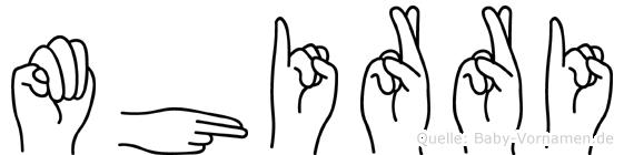 Mhirri im Fingeralphabet der Deutschen Gebärdensprache