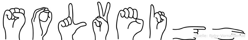 Solveigh im Fingeralphabet der Deutschen Gebärdensprache